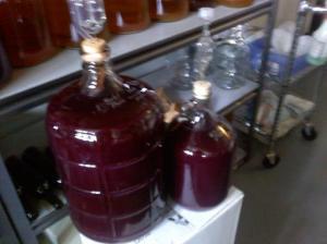 wine in secondary